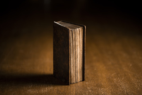 A first edition of the Book of Mormon. Photo by Nate Edwards.