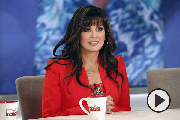 Marie Osmond on the set of The Talk.